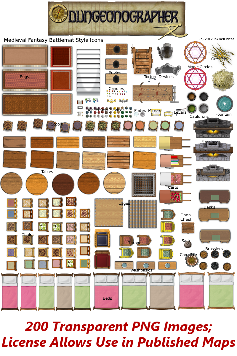 Dungeon map symbolsicons any editor inkwell ideas hexdun dungeon map symbolsicons any editor need more map itemssymbolsicons for your game maps include this set of 200 dungeon map images in your image lib biocorpaavc