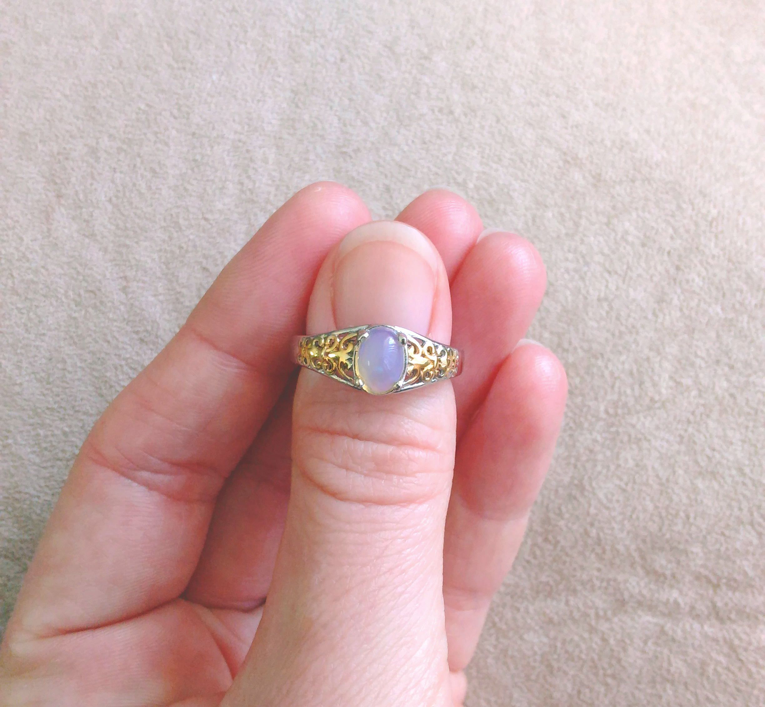 Awesome in opal! This stunning vintage birthstone ring was handmade ...