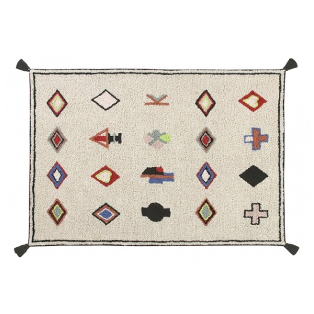 Naador Multicolor Machine Washable Rug 4 7 X 6 7 Products