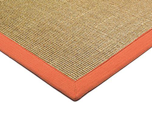 Teppich Wohnzimmer Carpet klassisches Design BORDERED SISAL RUG 100 - Teppich Wohnzimmer Braun