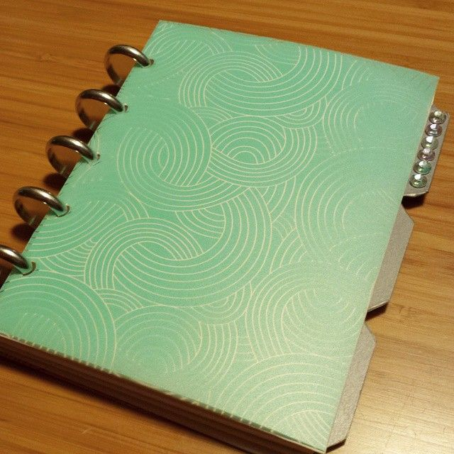 I found the aqua version of my pink Martha Stewart notebook on