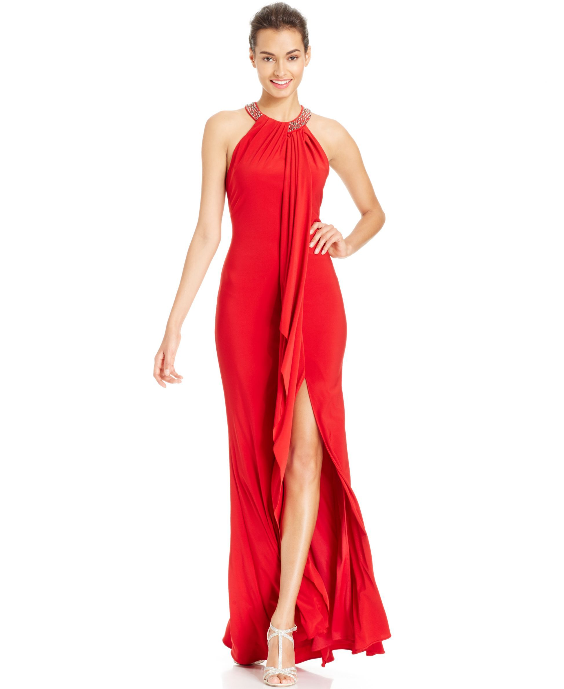 Xscape embellished halter gown products pinterest halter gown