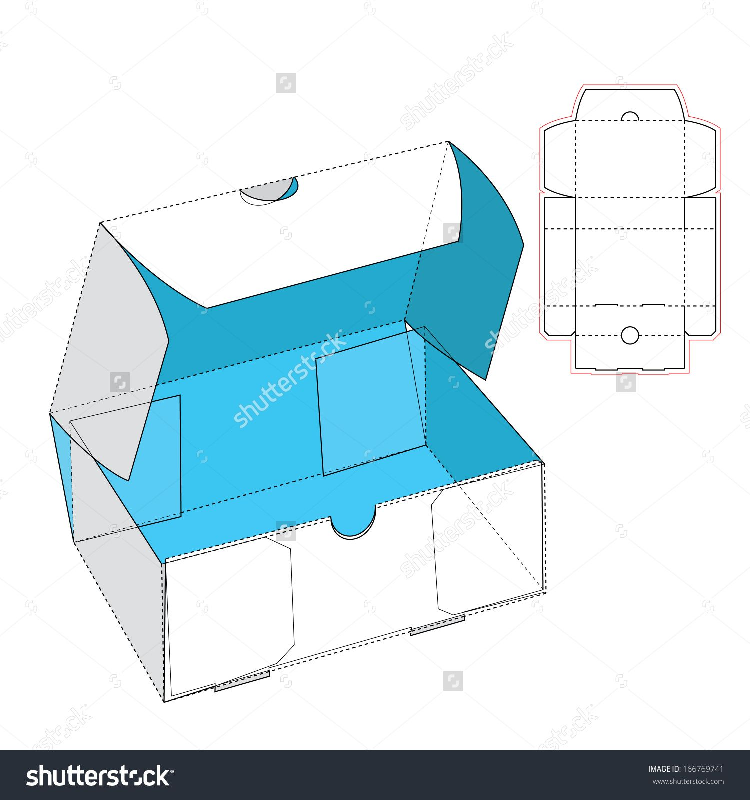 Box with flip lid and blueprint layout stock vector illustration box with flip lid and blueprint layout stock vector illustration 166769741 shutterstock malvernweather Gallery