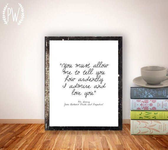 Quote Print Printable art wall decor Inspirational Jane | Etsy