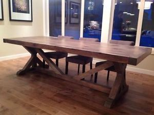 Handcrafted Rustic Solid Wood Custom Built Dining Tables