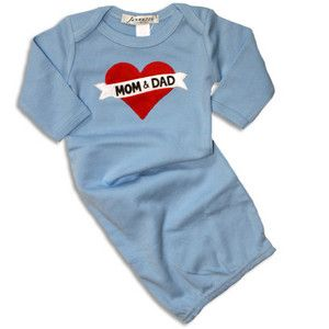 Gifts for Dad and Baby - Jannuzzi Tattoo Heart Mom and Dad Blue Gown ... 159f40e4095