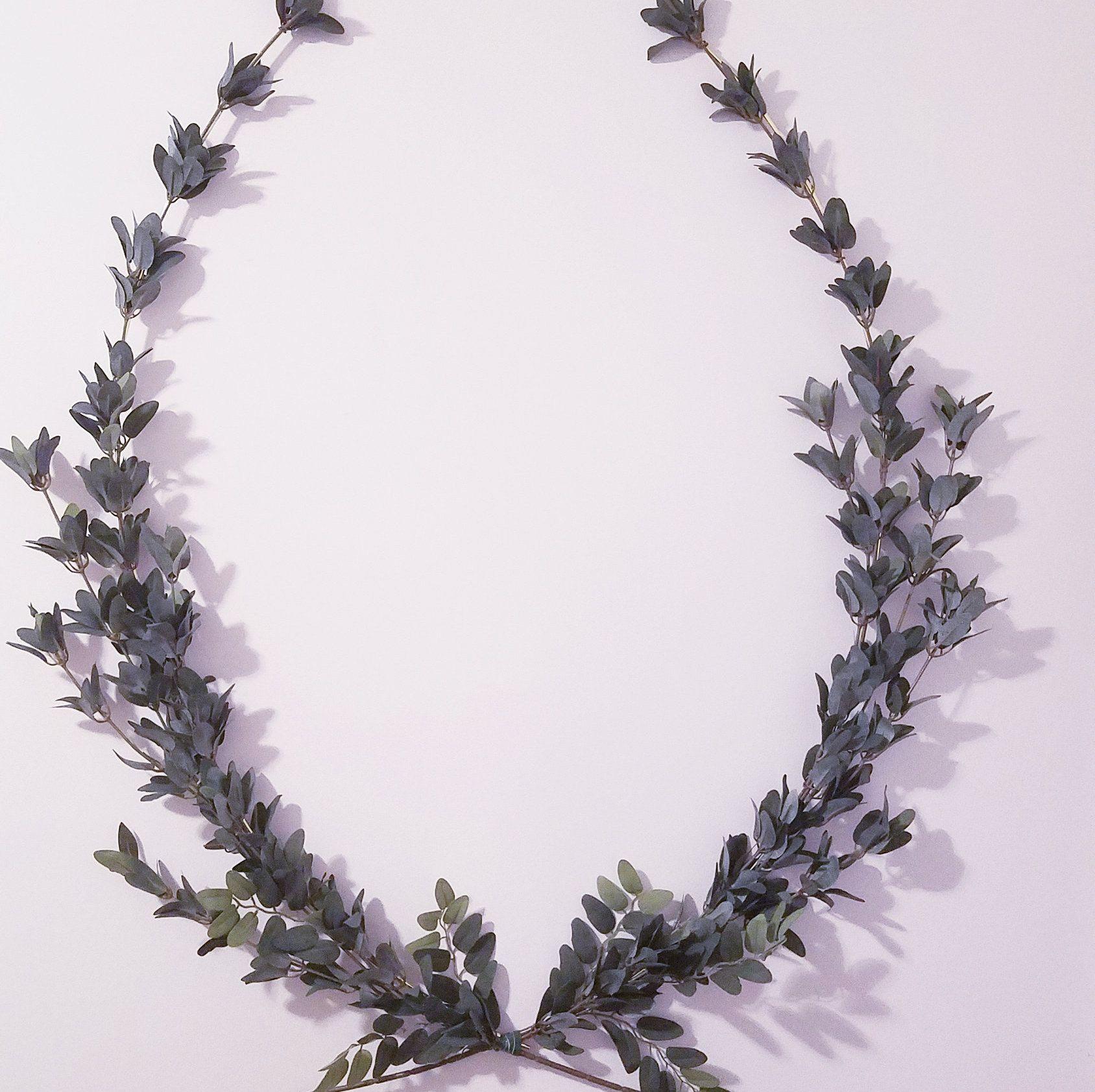Photo of Laurel Wreath, Unique Indoor Wreath, 32 inch Nursery Wreath, Minimalist Wreath