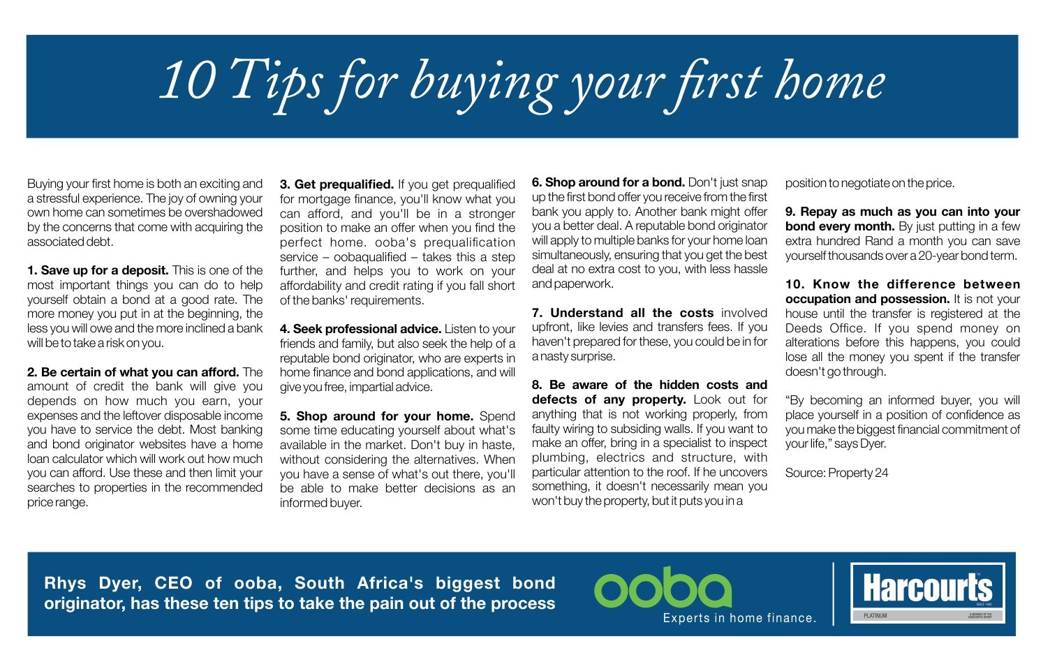 10 Tips for buying your first home. #TopTipTuesday #HarcourtsPlatinum