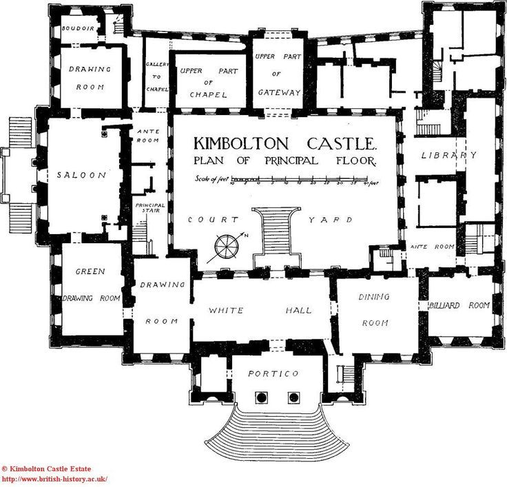 Kimbolton Castle Principal Floor Estate Plans