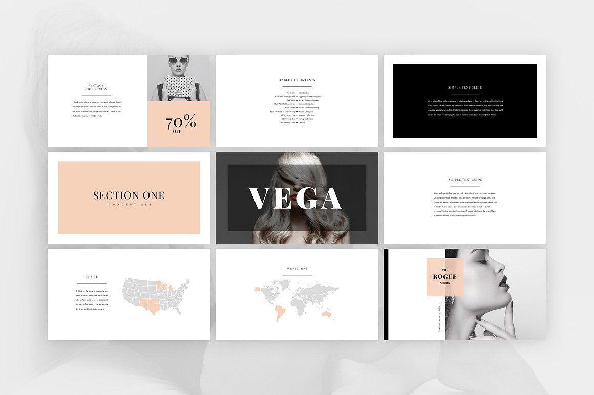 Vega Elegant Presentation 템플릿 Ppt 디자인 템플릿 디자인