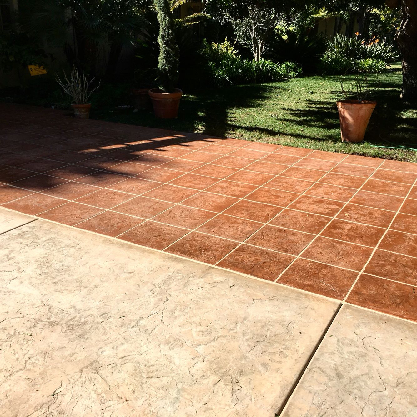Custom Stamped Concrete Driveway And Entry Cut And Grouted To Look Like  Spanish Tile. Davis