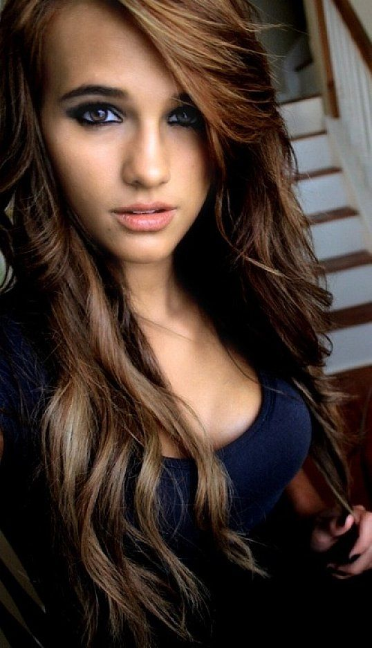 Hair Color Dark Chocolate Brown Hair Color With Long Wavy Hair For