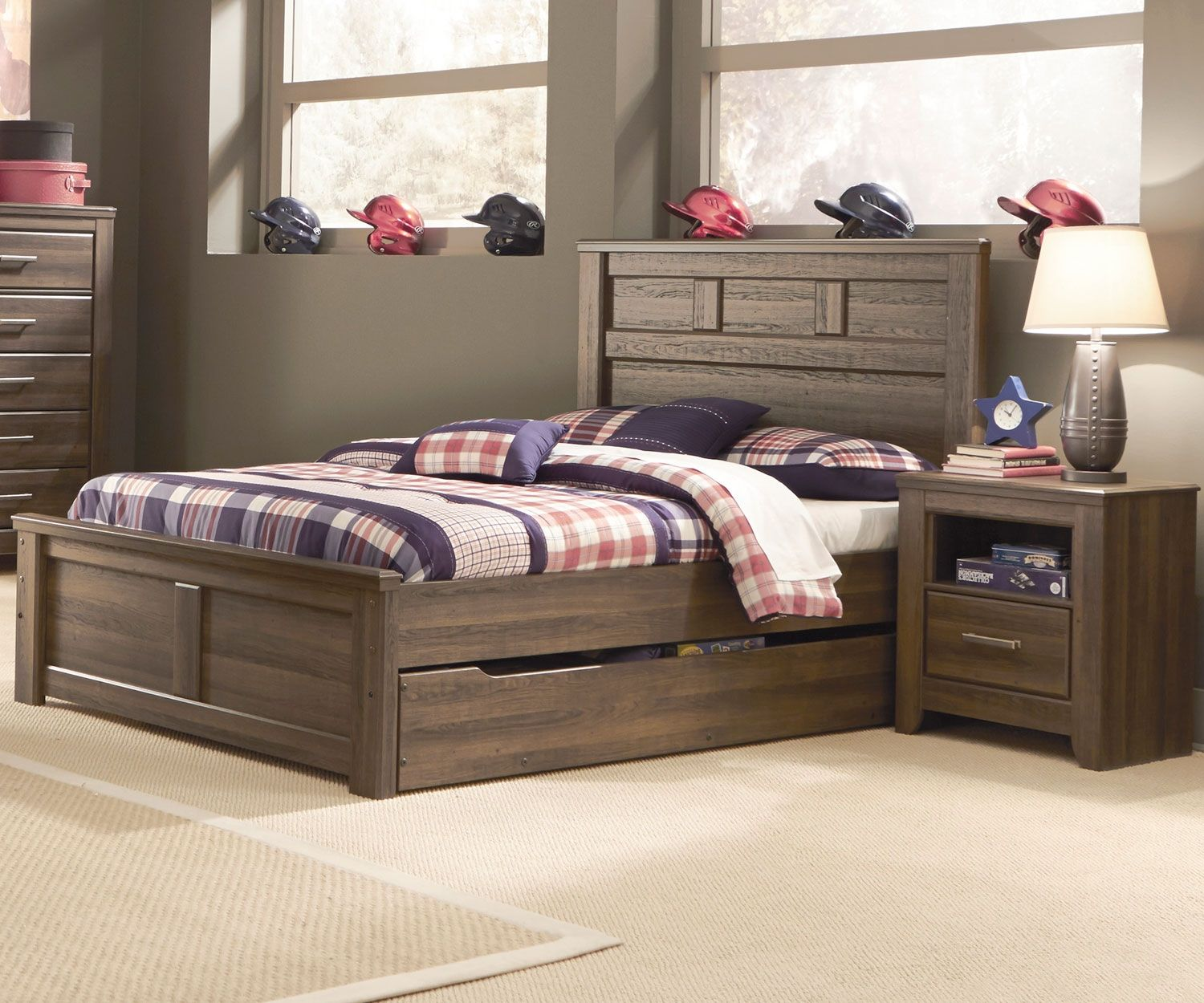B251 Juararo Trundle Bed | Boys full size trundle beds ...