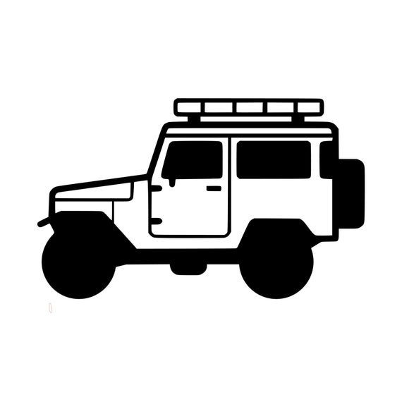 Photo of Toyota FJ 40 J40 Sticker Bumper Sticker Kayak Camping Hiking Mountain Biking Hunting Surfing Snowboard Ski Laptop Cooler Coffee Cup Mug