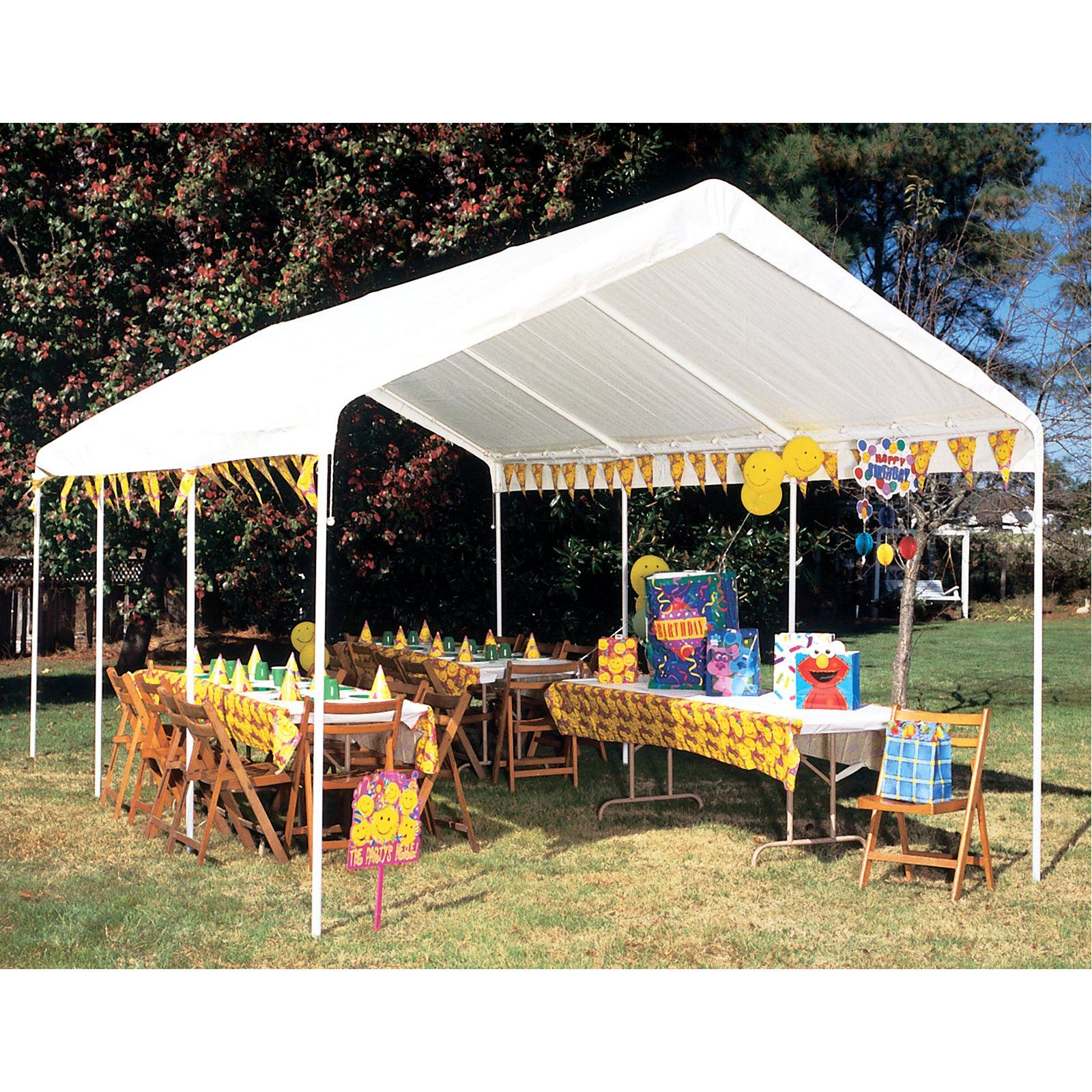 King Canopy 10 X 20 Ft Drawstring Replacement Cover White Canopy Canopy Tent Outdoor Canopy Tent