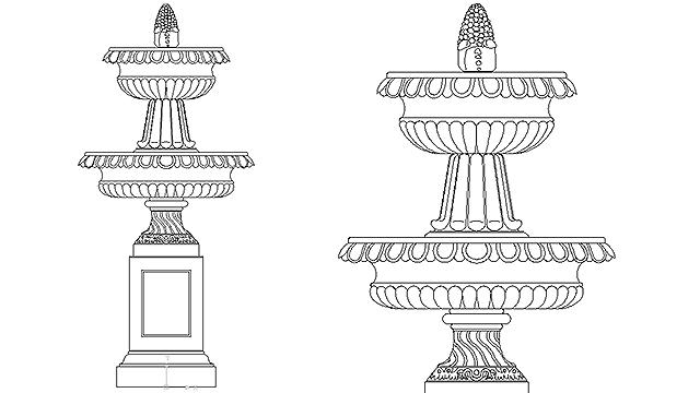 garden water fountain in Construction Details CecoNET