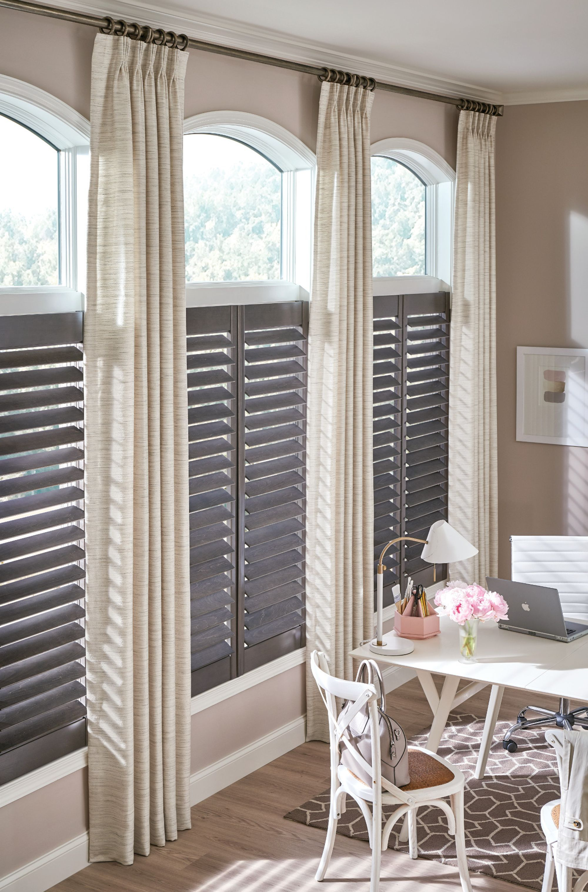 Traditions wood shutters with