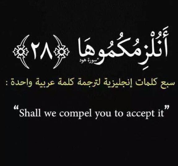 كلمة بالعربية مقابل ٧ كلمات باللغة الإنجليزية Lettering Words Arabic Calligraphy