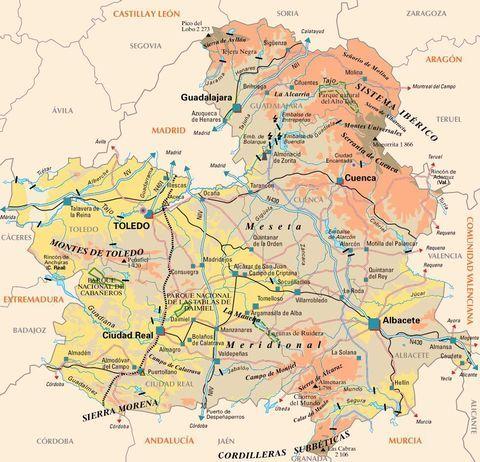 Mapa De Castilla La Mancha Viaje