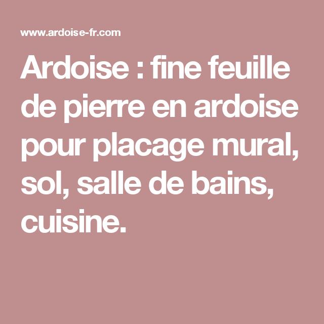 Ardoise Fine Feuille De Pierre En Ardoise Pour Placage