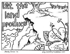 Are You Looking For A Coloring Sheet About The Third Day Of Creation Then Print Off This Creation Coloring Pages Bible Coloring Pages Preschool Coloring Pages