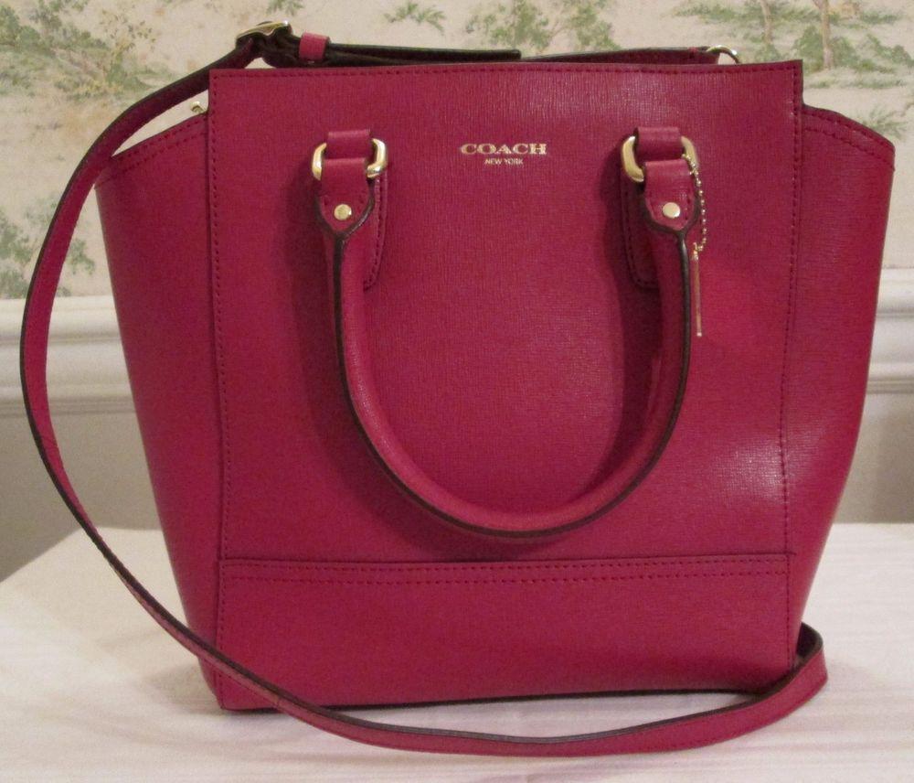 Top Rated Coach Handbag Purse Pocketbook 50707 Mini Tanner Saffiano Leather Scarlet Messengercrossbody Head Accessories