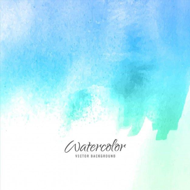 Telechargez Aquarelle Bleue Gratuitement 水彩画の背景 風景