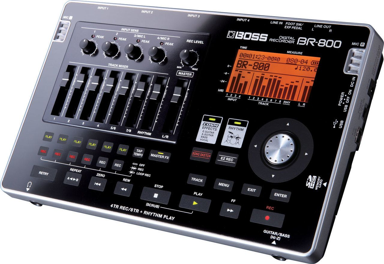 Boss Br 800 8 Track Digital Recorder In