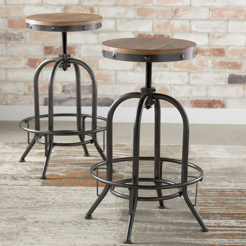 Superieur Empire Adjustable Height Swivel Bar Stool