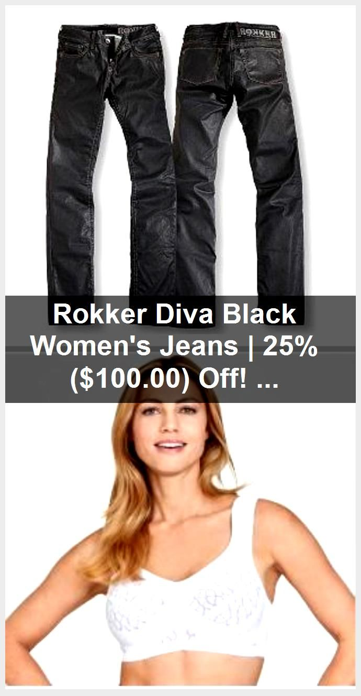 Rokker Diva Black Women's Jeans | 25% ($ 100.00) off