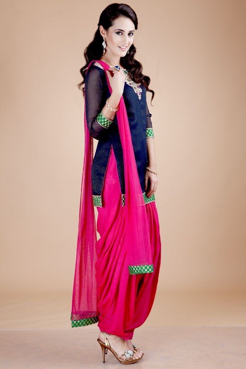 Very pretty traditional India chudidhar. Love the color combination ...