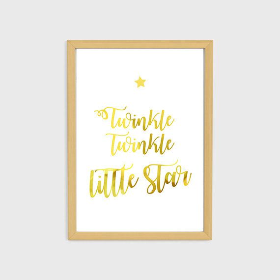 Twinkle Twinkle Little Star Poster for Nursery Printable Download ...