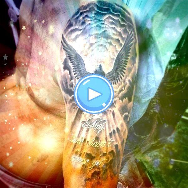 Himmel Tattoos für Männer  höhere Platz DesignIdeen 50 Himmel Tattoos für Männer  höhere Platz DesignIdeen  Tatuagem de anjos e Jesus Cristo...