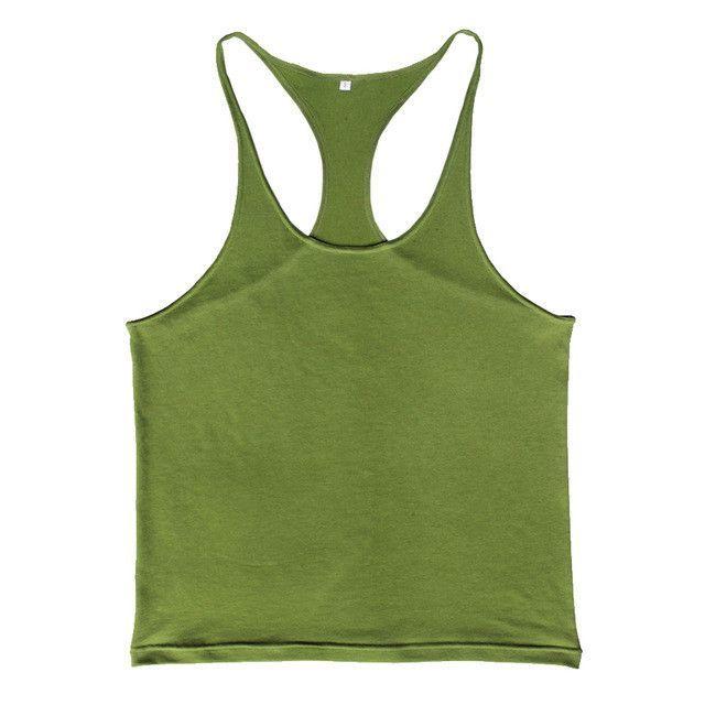 b2f49f1f94d5d Gyms Tank Top Men Bodybuilding Clothing Blank Fitness Singlet Sleeveless  Cotton Workout Body Plain Stringer Muscle Gyms Boy Vest