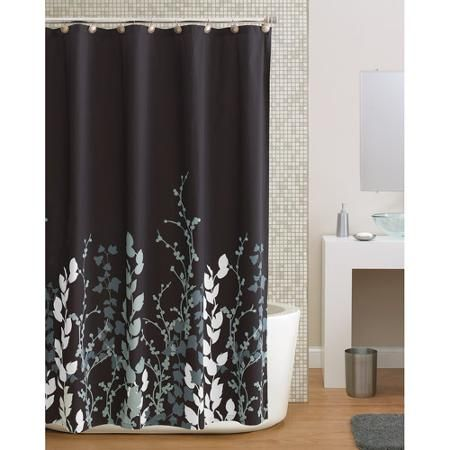 Hometrends Shadow Leaf Shower Curtain 1696