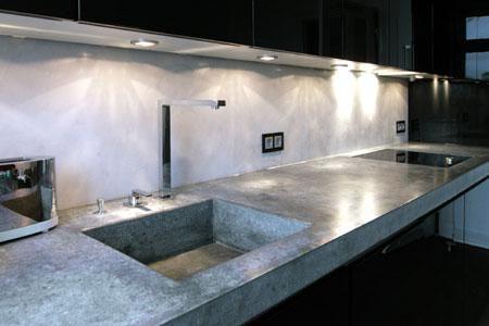 Betonmöbel Küchenzeile aus Beton müveszet Pinterest Haus