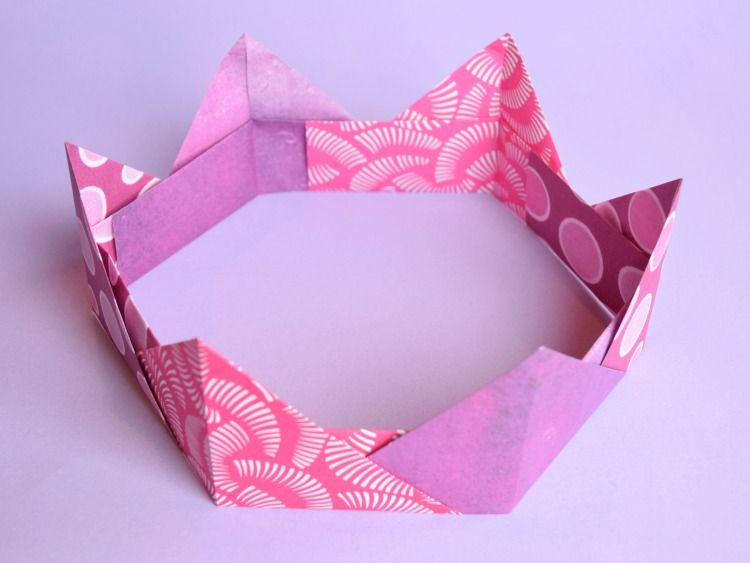 Origami Crowns Easy Paper Craft For Kids Girly Girls Pinterest