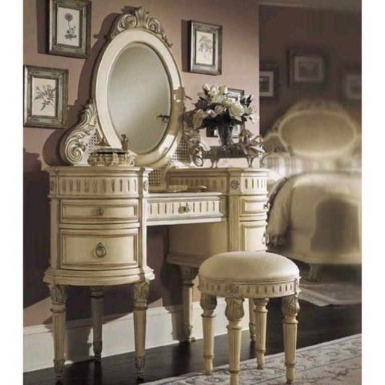 Beautiful White Bedroom vanity - just because the inner girl in me