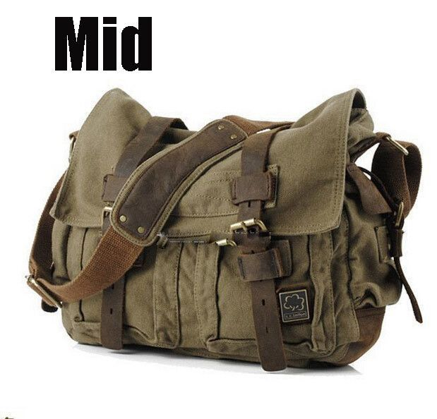 d59ae3d964 2016 Canvas Leather Crossbody Bag Men Military Army Vintage Messenger Bags  Large Shoulder Bag Casual Travel Bags I AM LEGEND