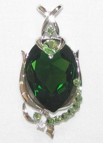 Swarovski Oval Emerald Pendant
