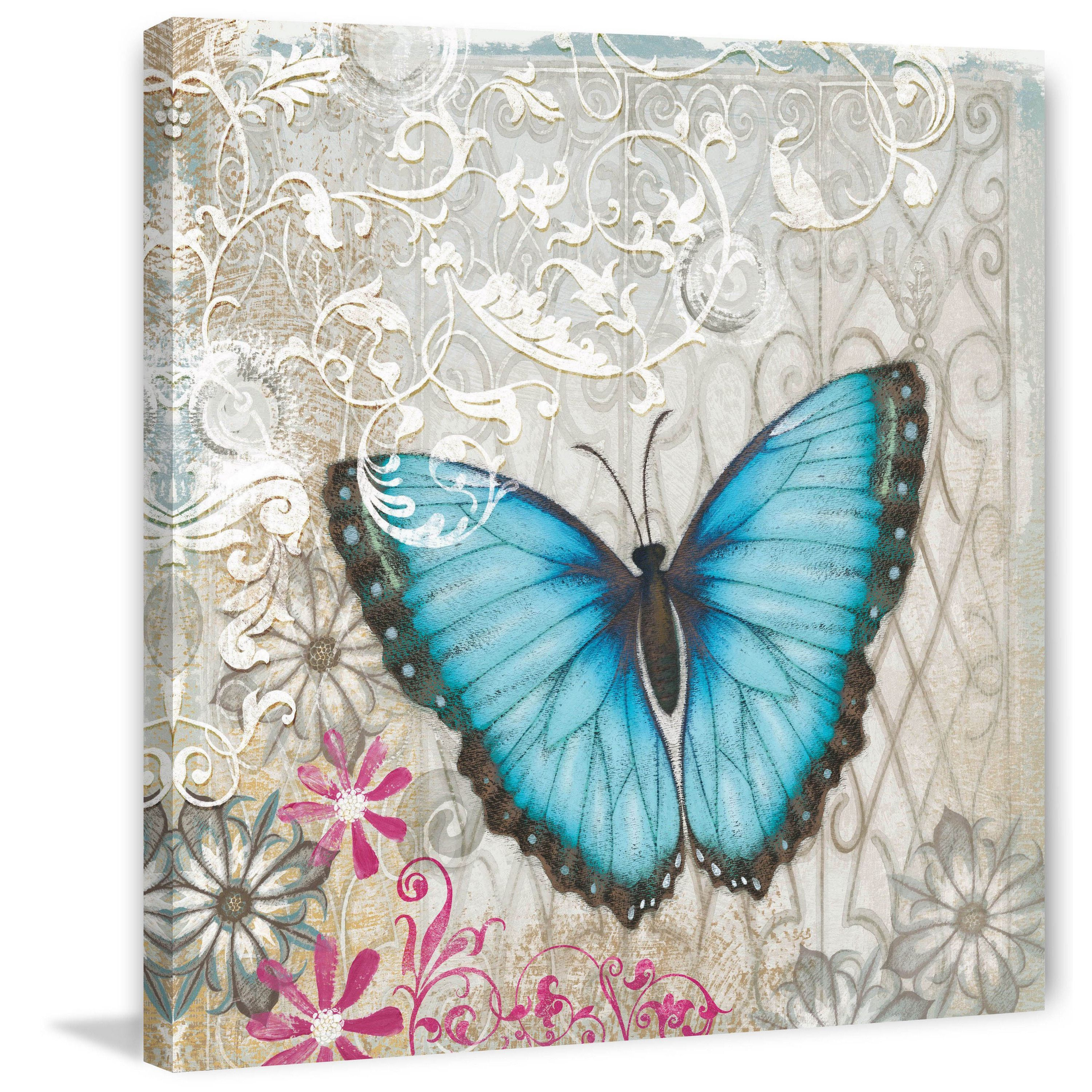 """Marmont Hill - """"A Light Blue Butterfly"""" Painting Print on"""