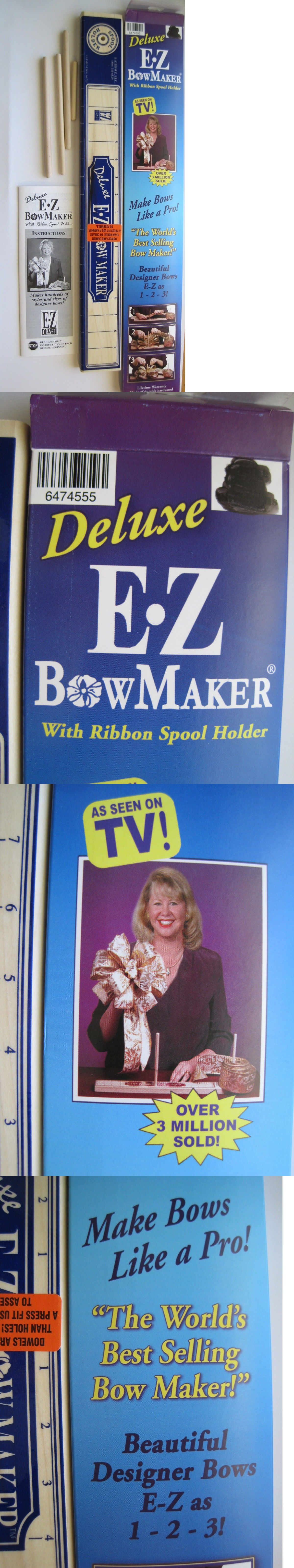 Other Crafting Tools 183179: New Deluxe E-Z Bow Maker Ribbon