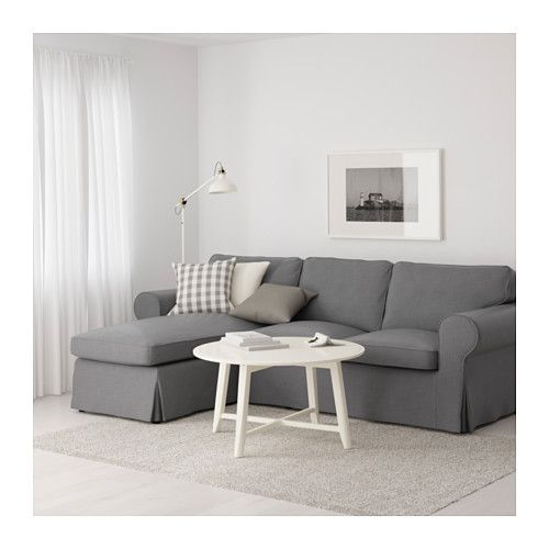 EKTORP Sofa Nordvalla with chaise Nordvalla dark gray