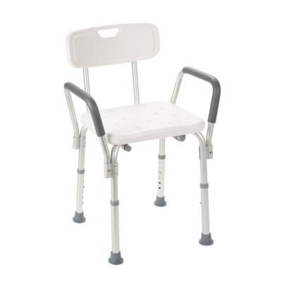 Drive Bath Bench With Padded Arms With Backrest 12445 1 The Home Depot Bath Chair For Elderly Shower Chair Bath Bench