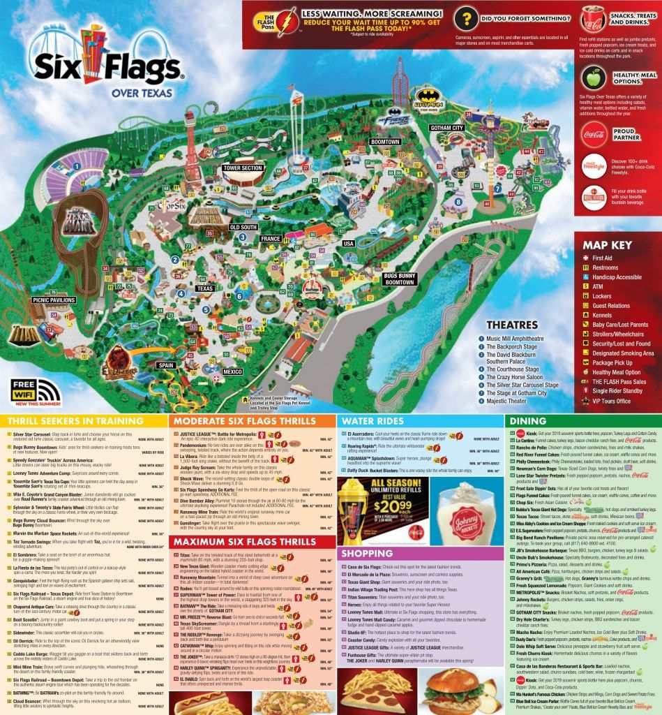 Six Flags Over Texas Park Map Six Flags Over Texas Park Map Six Flags Over Texas Six Flags Texas Parks