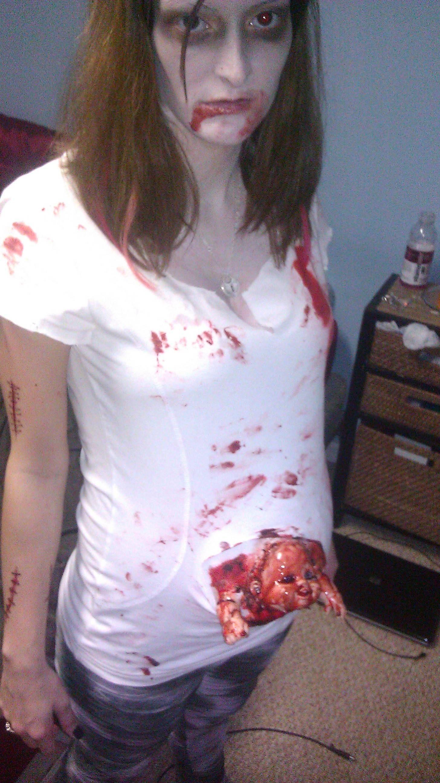Pregnantzombieg pixels halloween ideas pinterest