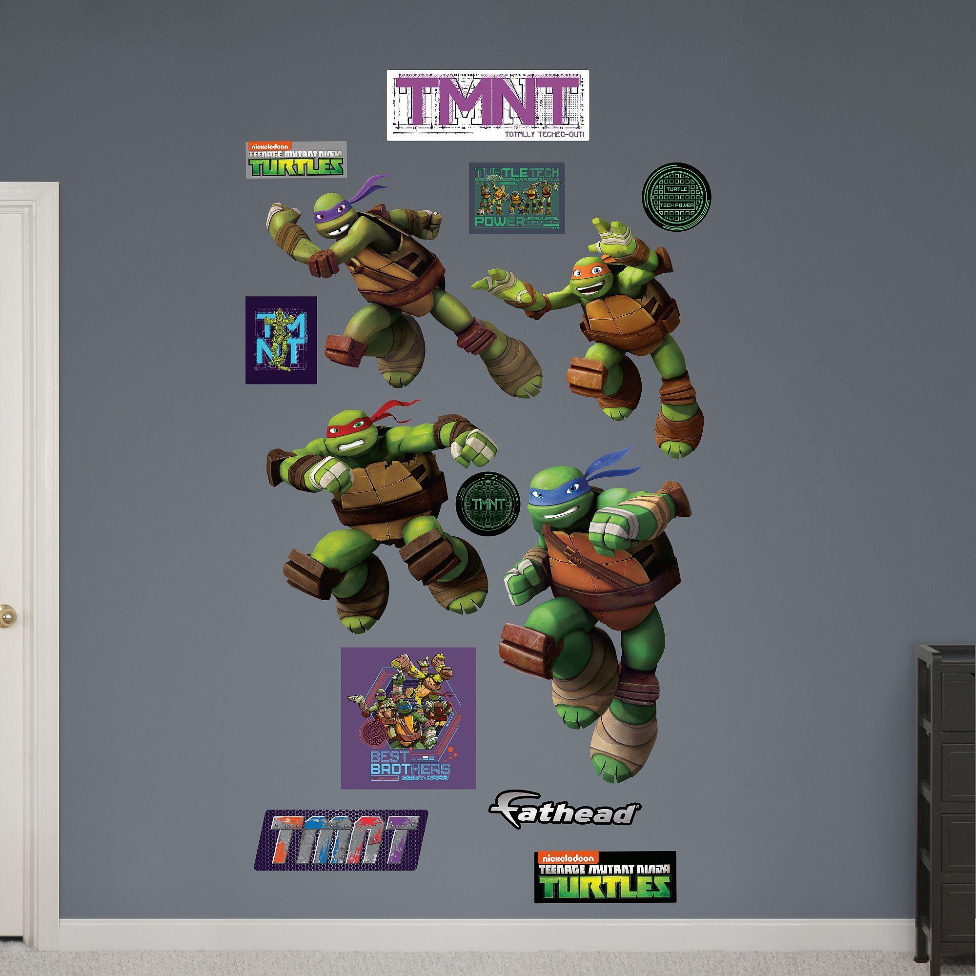 Fathead teenage mutant ninja turtles turtle power wall decals