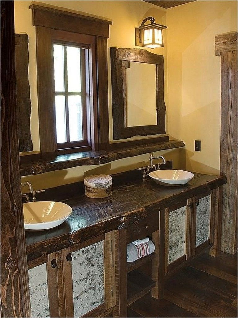 40 Perfect Country Rustic Bathrooms Ideas That Are Truly Spectacular Rustic Bathroom Vanities Unique Bathroom Vanity Rustic Bathrooms