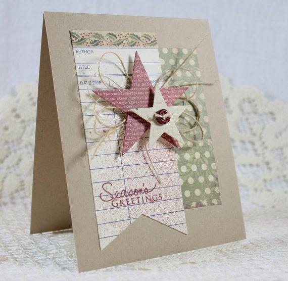 Handmade Holiday Christmas Greeting Card by EndlessInkHandmade - christmas card layout