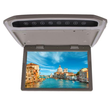 New 1024 600 Hd Digital Car Overheadf Roof Mount Monitor Fm Transmitter Hdmi Overhead Wide Screen Flip Down Car Auto Monitor Fm Transmitters Remote Car Videos